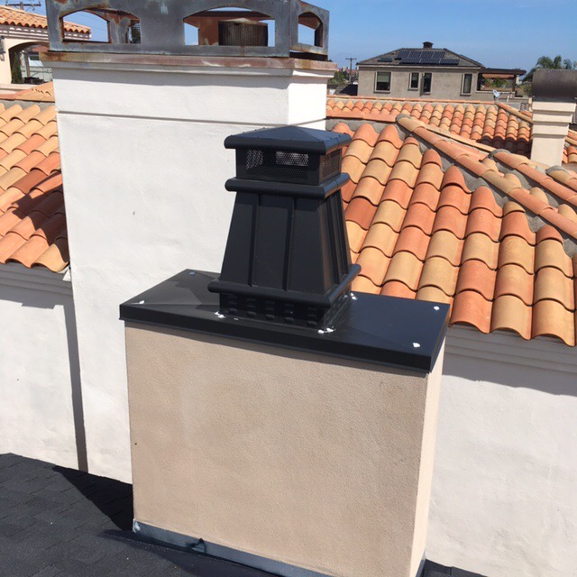 Single chimney cap